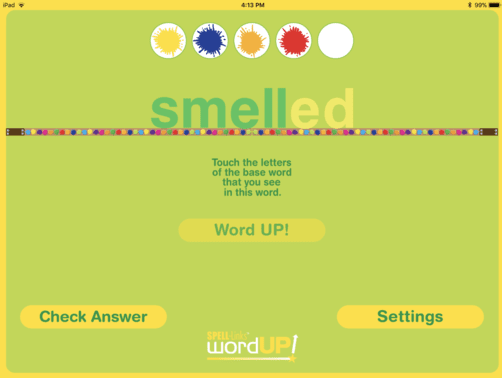 6. Challenge yourself to correctly identify the base word in five words in a row!